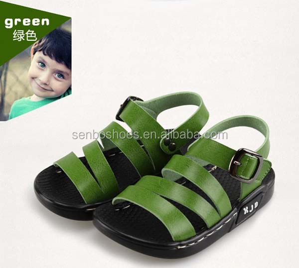 New Style Funny Child White Leather Sandals Kids Shoes wholesale