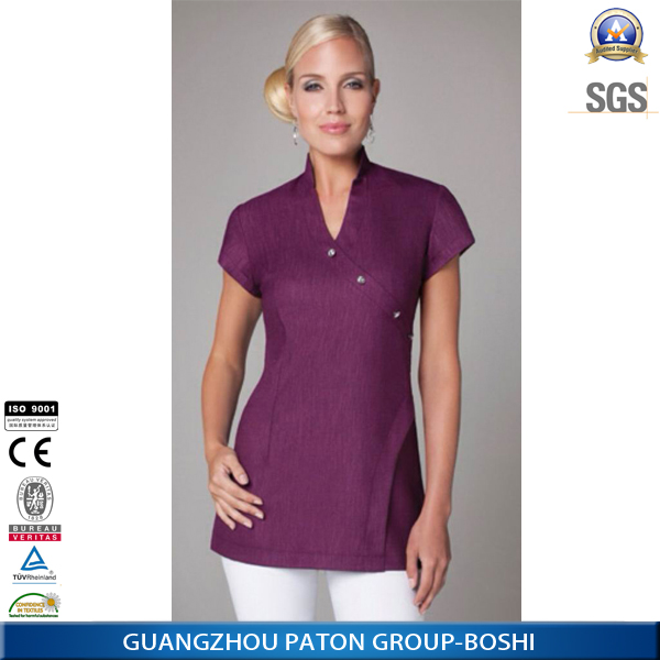 New design female spa uniform in 2014 buy spa uniform for Spa uniform europe