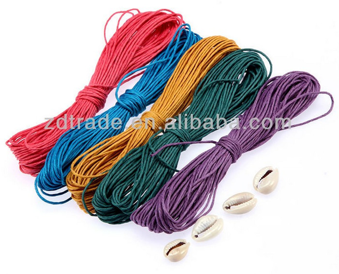 2014 new idea colored hemp twine string of jewelry finding