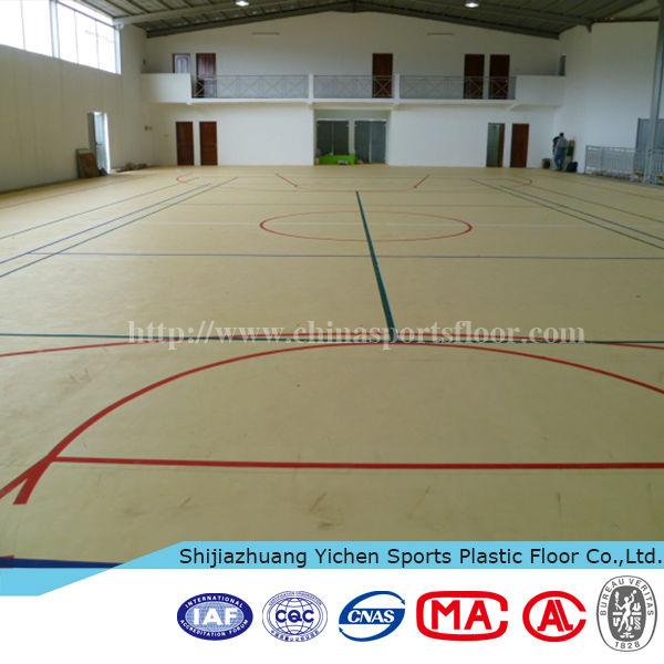 Indoor futsal basketball court sport pvc flooring carpet for Sport court floor