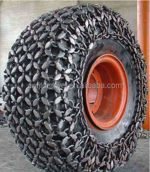 Alloy Steel Tire Chains Used For Hitachi Ex120