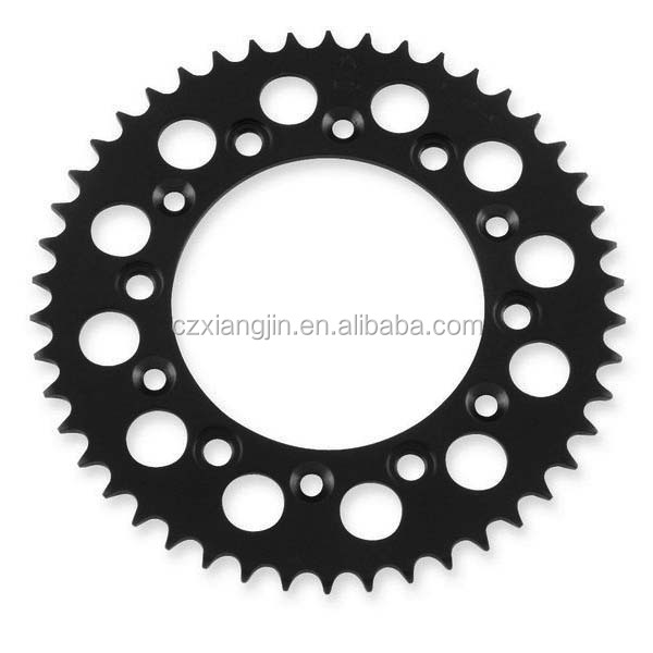 Refitting motorcycle sprocket of aluminum