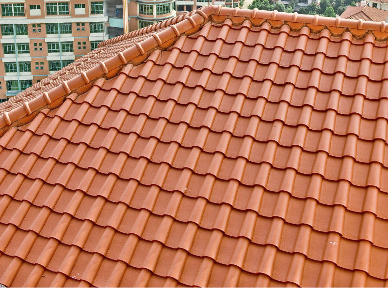 T2 310x245mm high quality met glazed clay tile span for Types of roofing materials and cost