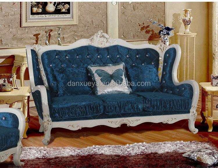 Classic italian sofa set baroque hand carved living room for Baroque living room furniture