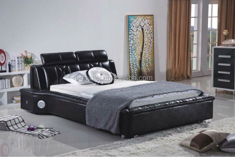 Hotel Bedroom Furniture Media Leather Bed