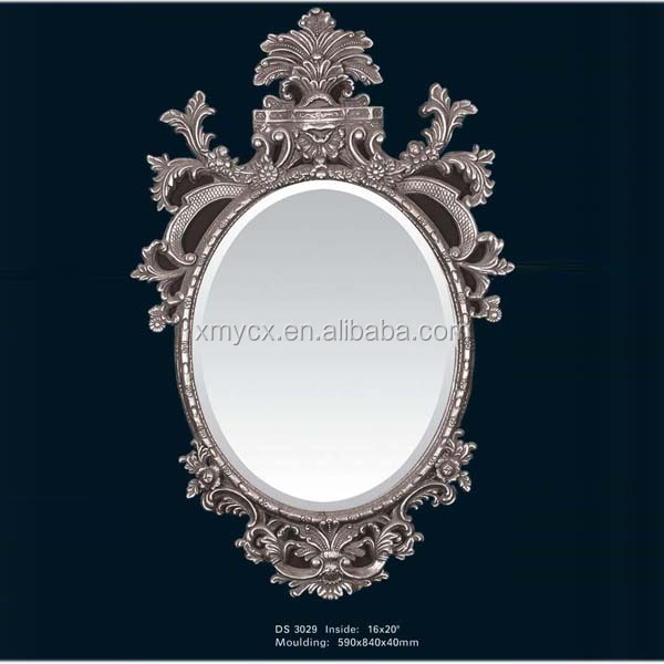 Polyresin large baroque salon wall mirrors buy salon for Big salon mirrors