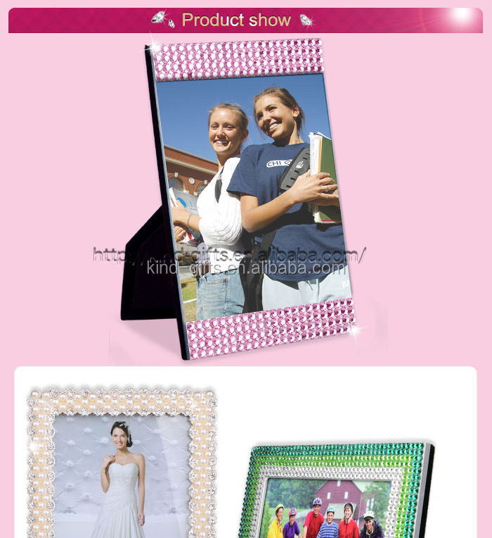 Diamante Bling Photo Frame Heart Shape Single Frames