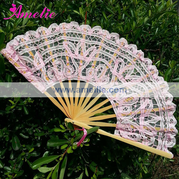 Wholesale Gold Color Victoria Spanish Wooden Hand Fans
