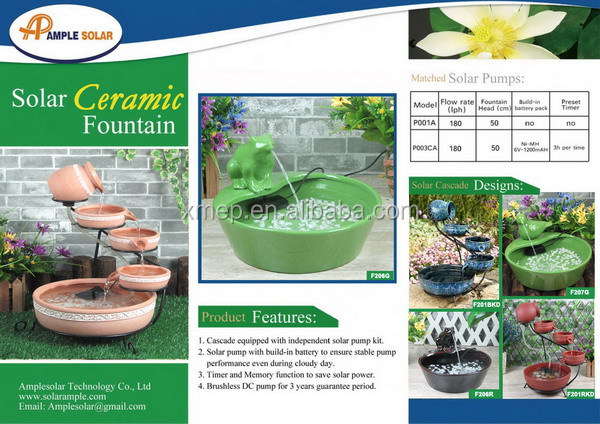 Solar garden fountains stone