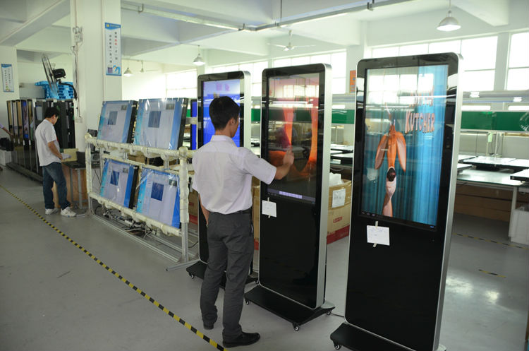 "42"" 46"" 55"" floor stand android digital signage player with 3g wifi network freestanding lcd ad display"