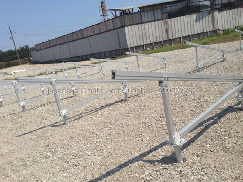 Ground Mounting System with Screw Foundation