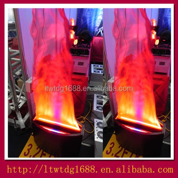 Floor Standing Fake Fire Led Stage Silk Flame Effect Light For Decoration