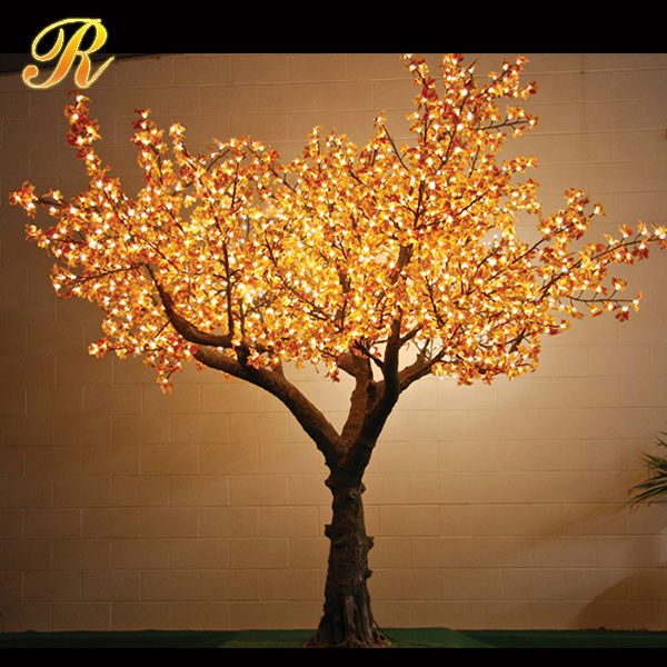 Colorful artificial led coconut palm tree for outdoor decoration