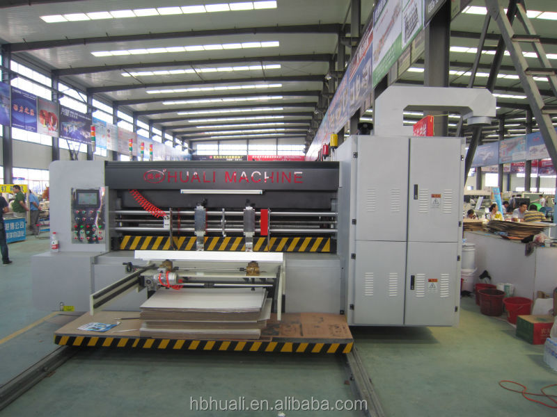 Automatic printing and slotting die cutting machine/carton box making machine