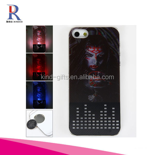Skeleton Scary Ghost Hard 3D Skull Gothic Illusion Case Cover - With 3D Flash Visual Colour Changing (Medusa)