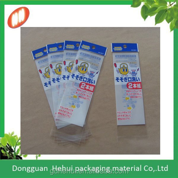 High quality custom printed self adhesive plastic OPP bag with header
