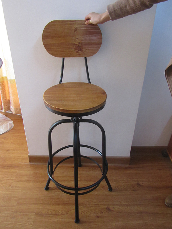 Cheap antique furniture wooden seat high bar stools