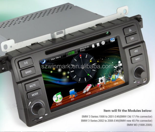 Hot-selling 7 inch one din in-dash Special Car DVD Player Car radio car gps 3 Series DJ7062 for BMW E46 1998-20063