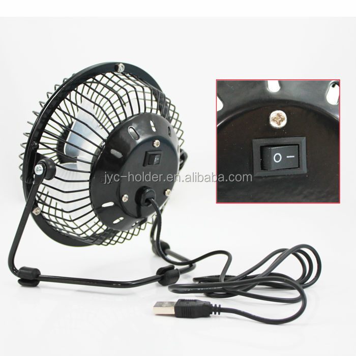 T0C030 mini radiator usb ceiling fan with led message light