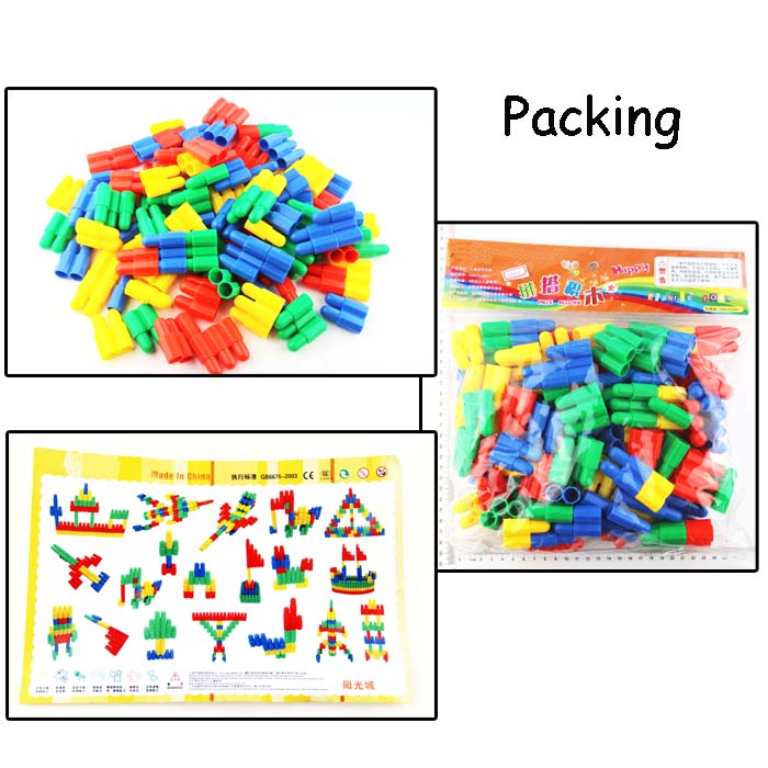DIY Assembly Construction Model House Building Kit Creative Assemble Puzzle Toys Brain Teaser Puzzle Christmas Gift