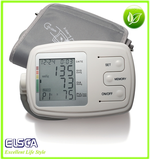 Automatic Digital Wrist Blood Pressure Monitor with FDA CE