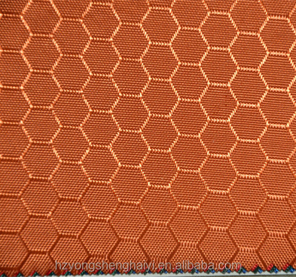 Specialize fabric manufacture 100% Polyester pvc coating 600D honeycomb fabric