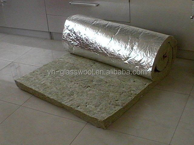 Fireproof rock wool pipe and rock wool tube with aluminium for Wool wall insulation