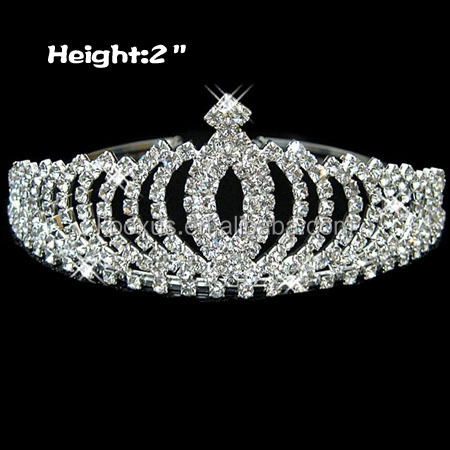India Wedding Rhinestone Bridal Tiaras