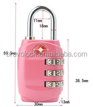 TSA Padlock Resettable Combination with Master Key for Customs TSA309