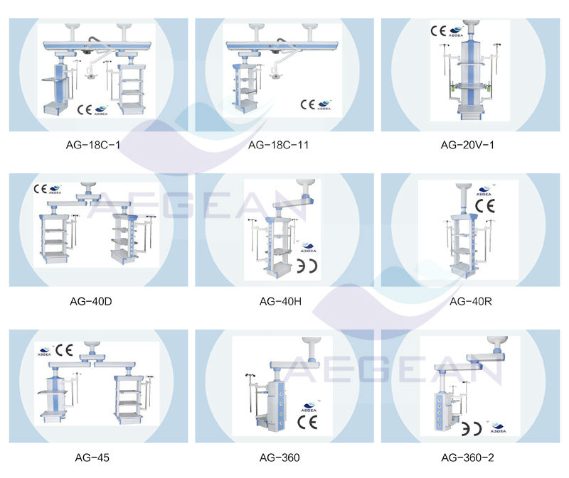 medical surgical pendant arms