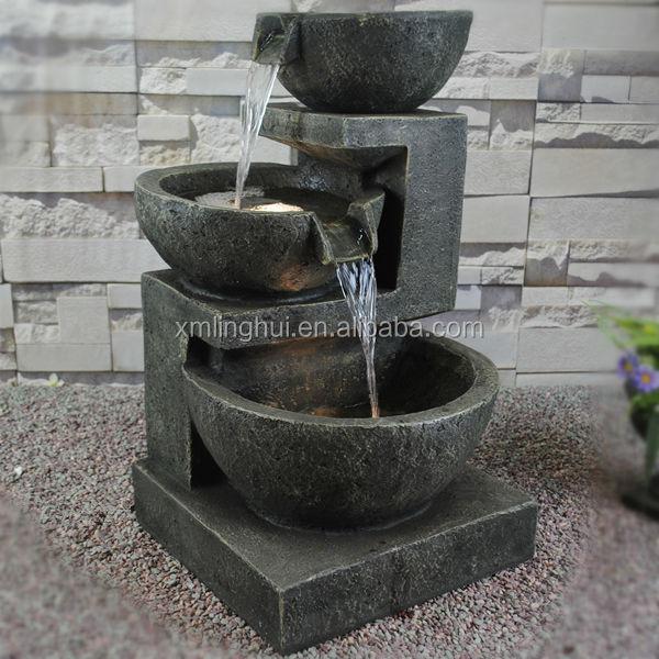 Resina jard n con gradas fuentes de maceta ce ul sgs - Piedras para jardin baratas ...