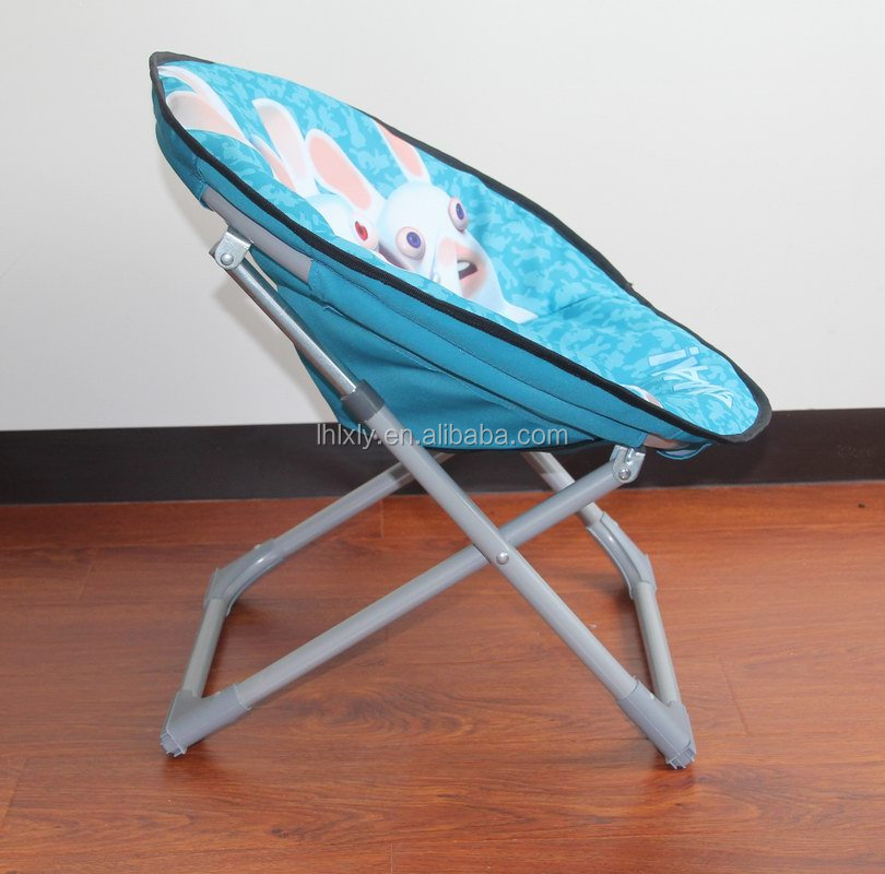 hot sell fold up metal kids moon chair