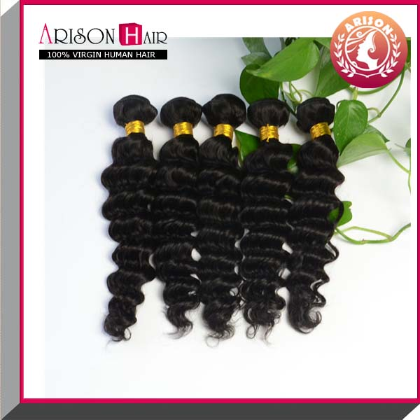 Deep wave top grade 5a 100% virgin brazilian hair