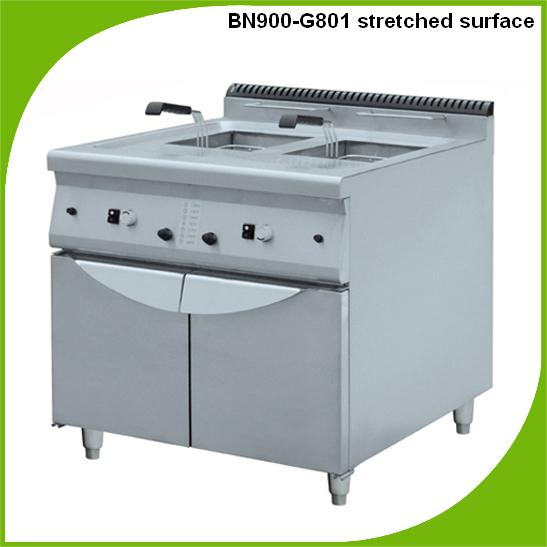 Cosbao stainless steel gas fryer with cabinet/gas deep fryer (BN900-G801A)