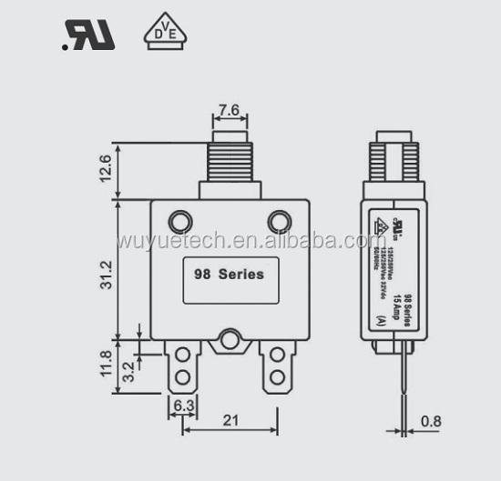 new type wuyue 98 series circuit breaker manual type