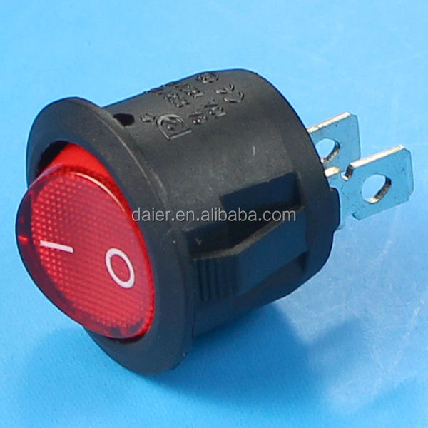 KCD1-101-5 SPST 2PIN ON-OFF ROUND SHAPE ROCKER BOAT SWITCH