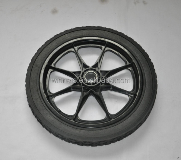 horse carriage garden cart plastic solid rubber wheels 16inch, View house carriage wheels 16inch ...