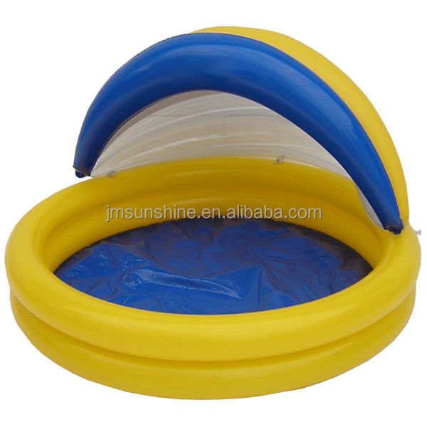 Inflatable baby pool with sunshade