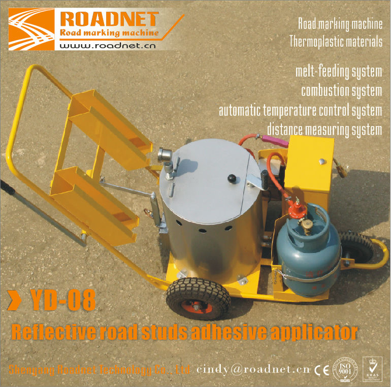 Bitume Reflective road studs adhesive machine