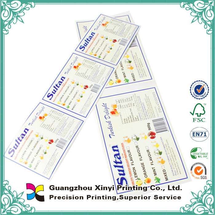 custom finishing factory price stickers printing service