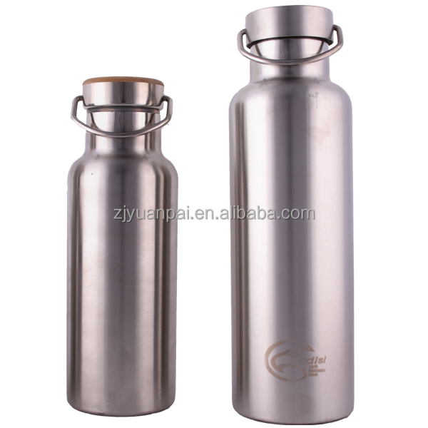 vacuum sports bottle with bamboo lid