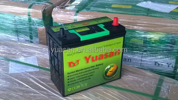 12V 50AH Dry Charged Lead Acid Auto Car Battery 55066