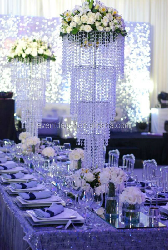 Large Crystal Chandelier Centerpieces For Weddings Table Decorations