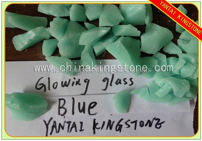 2015 new arrival glowing stone glass,china glass stone,glass decorate stone