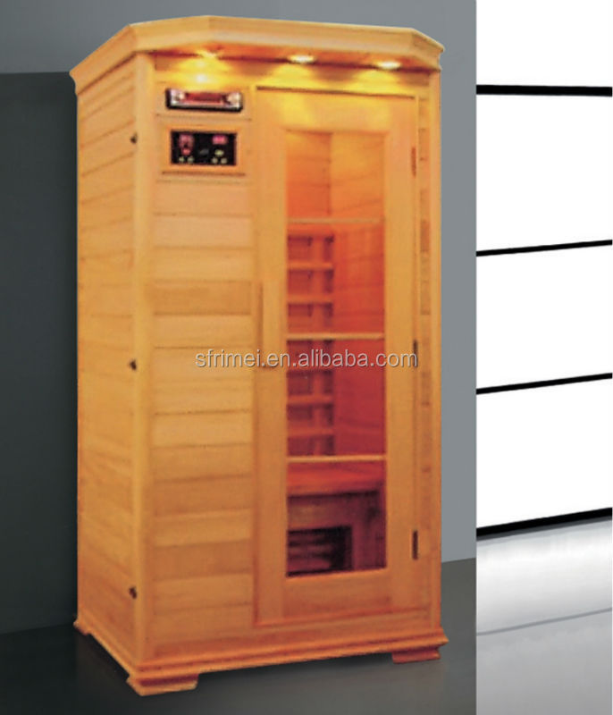 Computer Control Panel 1 People Capacity Far Infrared Indoor Mini Sauna Room K-7129