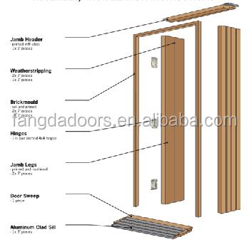 fangda knock down wooden door jamb - Wood Door Frame
