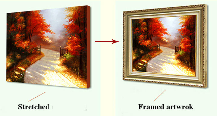 Custom made framed artwork 3D paper craft painting