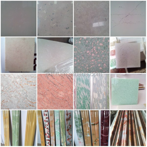 Artificial marble quartz stone new colors for vanity tops