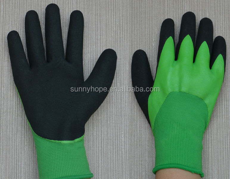 13g double dipped nitrile coated sandy finished Chemical resistant gloves