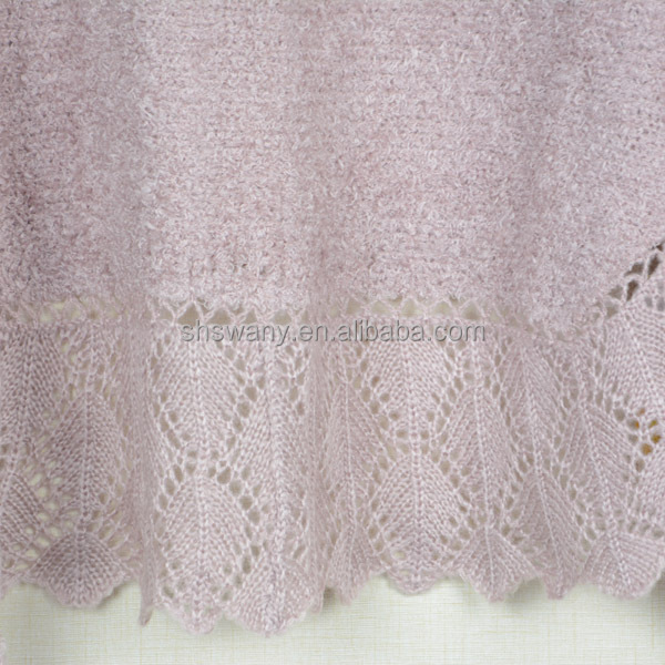 knitted shawl plain